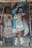 Έπος της μεξικάνικης τοιχογραφίας ανθρώπων στοκ εικόνα με δικαίωμα ελεύθερης χρήσης