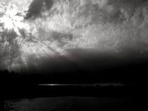Έπος sunrays σε μονοχρωματικό στοκ εικόνες με δικαίωμα ελεύθερης χρήσης