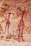 Έργα ζωγραφικής βράχου Tassili Ν ` Ajjer, Αλγερία Στοκ Εικόνες