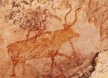 Έργα ζωγραφικής βράχου Tassili Ν ` Ajjer, Αλγερία Στοκ Φωτογραφίες