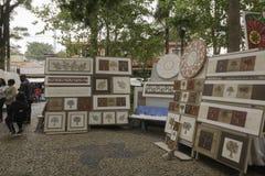 Έργα ζωγραφικής για την πώληση σε Embu DAS Artes Στοκ εικόνες με δικαίωμα ελεύθερης χρήσης