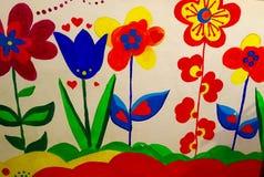 έργα ζωγραφικής λουλουδιών Στοκ φωτογραφία με δικαίωμα ελεύθερης χρήσης
