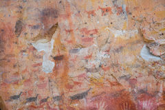 Έργα ζωγραφικής σπηλιών Cueva de las Manos Στοκ Εικόνες