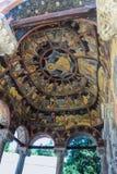Έργα ζωγραφικής στο ανώτατο όριο θόλων της φοράδας Biserica η μεγάλη εκκλησία στο μοναστήρι Sinaia από το δανικό ζωγράφο στοκ εικόνα