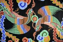 Έργα ζωγραφικής στο παλάτι Gyeongbokgung Στοκ φωτογραφίες με δικαίωμα ελεύθερης χρήσης