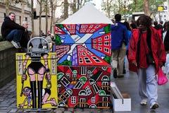 Έργα ζωγραφικής σύγχρονης τέχνης στην πόλη του Μανχάταν Νέα Υόρκη Στοκ εικόνα με δικαίωμα ελεύθερης χρήσης