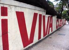 Έργα ζωγραφικής τοίχων στην οδό στην Κούβα Στοκ Φωτογραφία