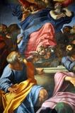 Έργα ζωγραφικής Caravaggio και Carracci στο παρεκκλησι Cerasi Βασιλική Στοκ Φωτογραφία