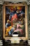 Έργα ζωγραφικής Caravaggio και Carracci στο παρεκκλησι Cerasi Βασιλική Στοκ φωτογραφίες με δικαίωμα ελεύθερης χρήσης