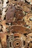 Έργο τέχνης μετάλλων βιοτεχνίας από τα χρησιμοποιημένα ανταλλακτικά Στοκ εικόνα με δικαίωμα ελεύθερης χρήσης