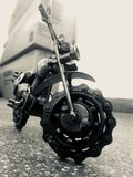 Έργο τέχνης μετάλλων ενός ποδηλάτου Στοκ φωτογραφία με δικαίωμα ελεύθερης χρήσης