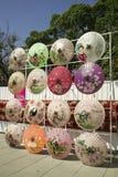 Έργο τέχνης ομπρελών με το ασιατικό ύφος στην Ταϊβάν Στοκ Εικόνες