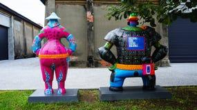 Έργο τέχνης που εκθέτει στο κέντρο αποβάθρα-2 τέχνης, περιοχή Yancheng, Kaohsiung, Ταϊβάν Στοκ φωτογραφίες με δικαίωμα ελεύθερης χρήσης