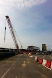 Έργο υπό κατασκευή στην περιοχή EXPO Στοκ Εικόνες