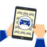 Έρευνα για ένα κόσμιο και καλό αυτοκίνητο αξίας Στοκ Εικόνες