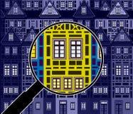 Έρευνα για μια ιδιοκτησία επένδυσης διανυσματική απεικόνιση