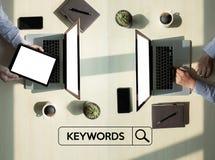 Έρευνα ερευνητικής ΕΠΙΚΟΙΝΩΝΙΑΣ λέξεων κλειδιών, βελτιστοποίηση -σελίδων, Στοκ εικόνες με δικαίωμα ελεύθερης χρήσης