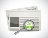 Έρευνα των ενάρξεων εργασίας σε μια εφημερίδα απεικόνιση αποθεμάτων