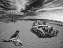 έρημος θανάτου κολάζ Στοκ Εικόνες