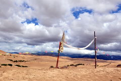 Έρημος και σύννεφα διανυσματική απεικόνιση