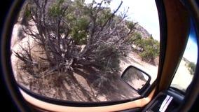 Έρημος Καλιφόρνια Borrego από το δρόμο - τζιπ POV φιλμ μικρού μήκους