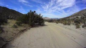 Έρημος Καλιφόρνια Borrego από το δρόμο - Pinyon Mtn RD 4 απόθεμα βίντεο