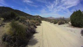 Έρημος Καλιφόρνια Borrego από το δρόμο - Pinyon Mtn RD 5 απόθεμα βίντεο
