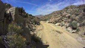 Έρημος Καλιφόρνια Borrego Anza - βρώμικος δρόμος ΔΥΣΚΟΛΑ 3 απόθεμα βίντεο