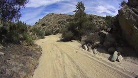 Έρημος Καλιφόρνια Borrego Anza - δρόμος άμμου απόθεμα βίντεο
