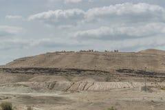 Έρημος μεταξύ του Jericho και της Ιερουσαλήμ Στοκ Εικόνα