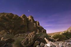 Έρημος νύχτας Στοκ Εικόνες