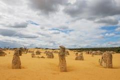 Έρημος πυραμίδων στο εθνικό πάρκο Nambung Στοκ φωτογραφία με δικαίωμα ελεύθερης χρήσης