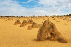 Έρημος πυραμίδων στο εθνικό πάρκο Nambung Στοκ Εικόνες