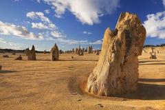 Έρημος πυραμίδων σε Nambung NP, δυτική Αυστραλία Στοκ φωτογραφία με δικαίωμα ελεύθερης χρήσης