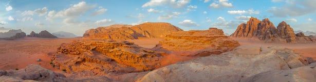 Έρημος ρουμιού Wadi, Ιορδανία Στοκ εικόνα με δικαίωμα ελεύθερης χρήσης