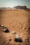 Έρημος ρουμιού Wadi Στοκ Εικόνες