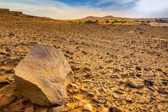 Έρημος Σαχάρα Hamada στο Μαρόκο Στοκ Εικόνες