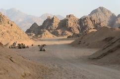 Έρημος στην Αφρική Σαφάρι ATV Εξορμήσεις στην Αίγυπτο Στοκ Εικόνα