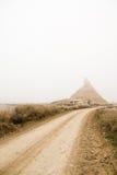 έρημος στον τρόπο Στοκ Εικόνες