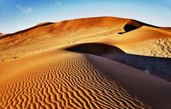 Έρημος του namib με τους πορτοκαλιούς αμμόλοφους Στοκ Εικόνα