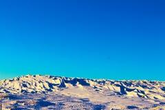 Έρημος χιονιού στο βουνό Στοκ φωτογραφία με δικαίωμα ελεύθερης χρήσης