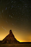 Έρημος Bardenas στη νύχτα Στοκ φωτογραφίες με δικαίωμα ελεύθερης χρήσης