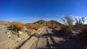 Έρημος Borrego Anza πλαϊνό 4X4 - έρημος από το δρόμο Borrego 5 ΦΟΙΝΙΚΕΣ 12 απόθεμα βίντεο