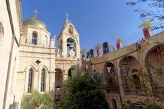 Έρημος Judean, Ισραήλ - 18 Φεβρουαρίου 2017 Στο προαύλιο του μοναστηριού Gerasim της Ιορδανίας που βρίσκεται στο Judean Στοκ φωτογραφία με δικαίωμα ελεύθερης χρήσης