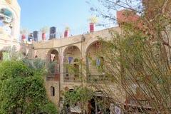 Έρημος Judean, Ισραήλ - 18 Φεβρουαρίου 2017 Στο προαύλιο του μοναστηριού Gerasim της Ιορδανίας που βρίσκεται στο Judean Στοκ Εικόνες