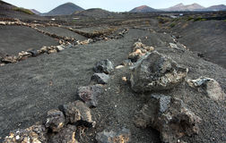 έρημος Lanzarote ηφαιστειακό Στοκ Εικόνες