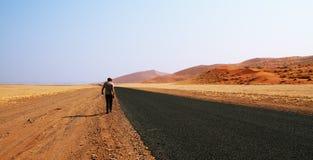 Έρημος Namib - δρόμος μέσω της ερήμου Namib στη Ναμίμπια Στοκ εικόνες με δικαίωμα ελεύθερης χρήσης
