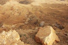 Έρημος Negev και κρατήρας του Ramon Στοκ Φωτογραφία
