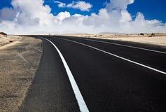 Έρημος Road Στοκ φωτογραφία με δικαίωμα ελεύθερης χρήσης