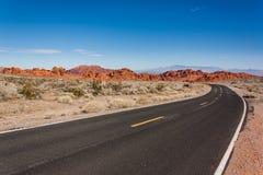 Έρημος Road Στοκ Εικόνες